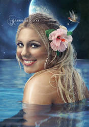- Mermaid in the night - by SandyLynx