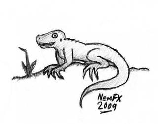 Amazon Tree Lizard by nemfx