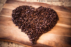 Coffee Beans In Heart Shape by thesashabell