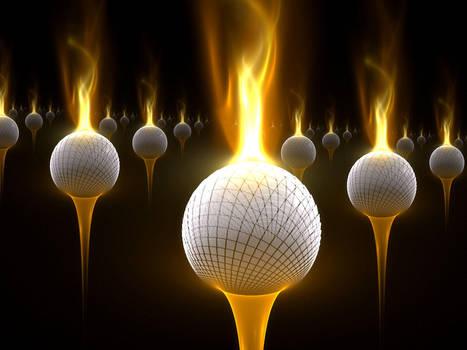 Flaming Golfballs of Death by Shortgreenpigg