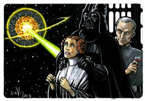 Alderan in Peril! by VanDavisArt