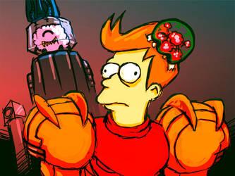 Futurama Metroid Crossover by Jaquio
