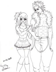 Sting and Lucy by Wandelumina