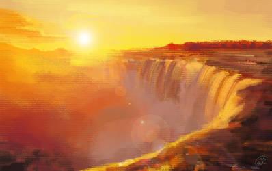 Niagara sunset - Photo study 1 by Taziii