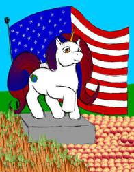 Patriotic Unicorn by demitrius