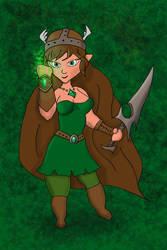 Female Elf Druid by mackrafty