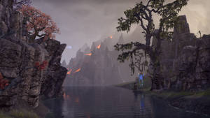 ESO Trees, Water, Lava, and a Bull Netch by Kohlheppj13
