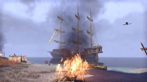 ESO Ship and Fire by Kohlheppj13
