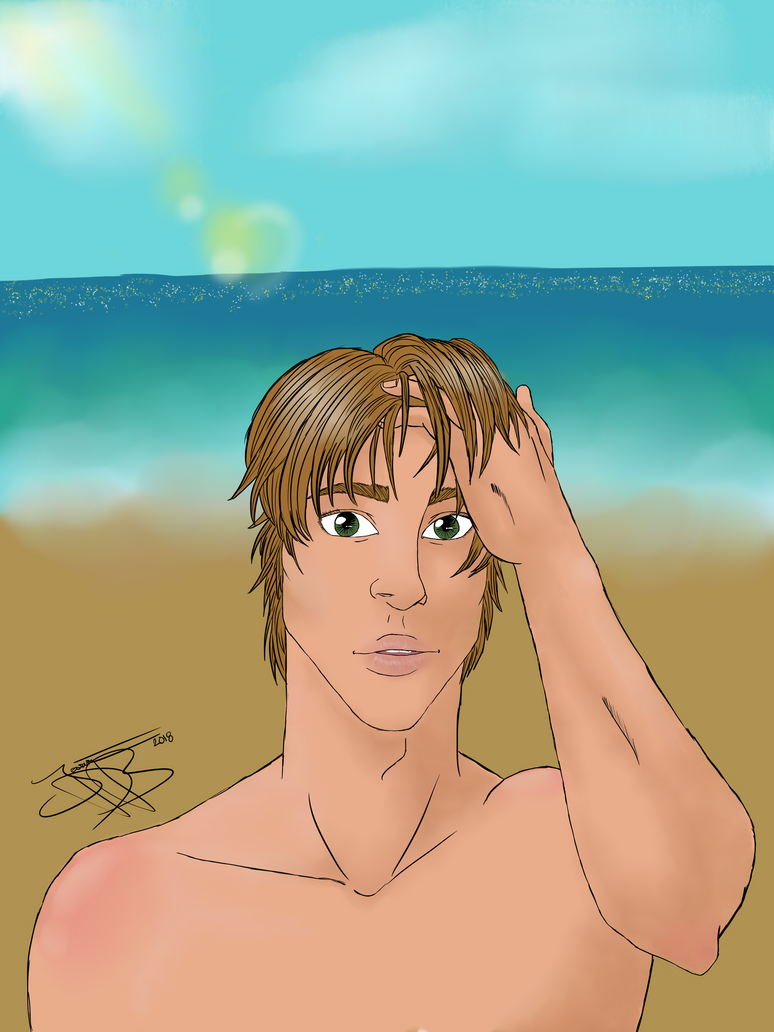 Ryuga on the beach by jessica-doessing