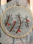 Embroidery - Leaves  by ArtisticAnnabelle