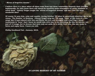 Mirror of Forgotten Dreams: Introduction by johnnyverger