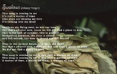 Swallows Lyrics by johnnyverger