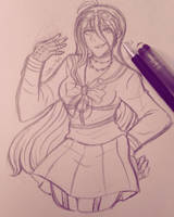 miu sketch (fixed) by haku--mei