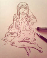 korekiyo screenshot redraw sketch by haku--mei