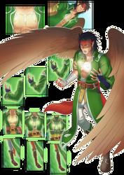 Tibarn in the herosuit 01 by midorimushiG