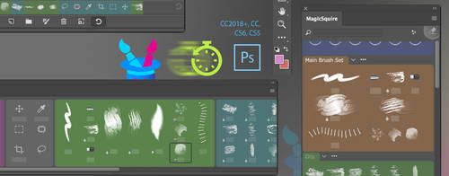 MagicSquire Photoshop brush manager v2.7: speedups by Anastasiy