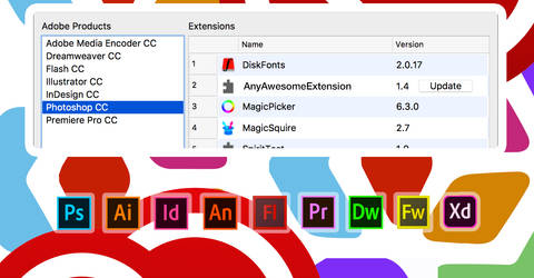 Manage Adobe extensions easily by Anastasiy