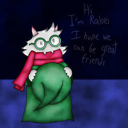 Ralsei a Prince of Darkness by Kaltie