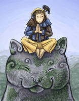 Kahir Trying to Meditate ver2 by angelac