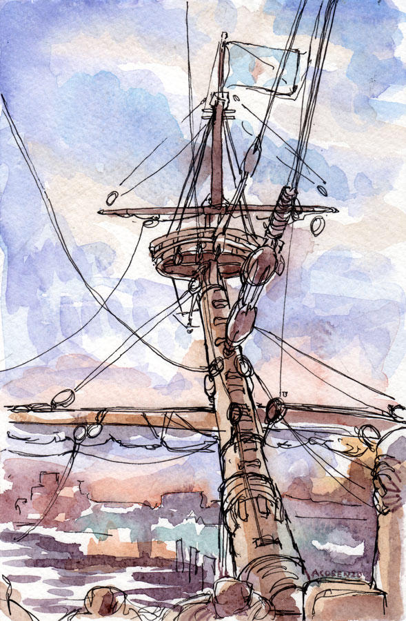 Foredeck Sunset by angelac