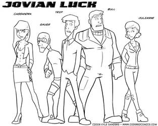 Jovian Luck Characters by CarbonComic