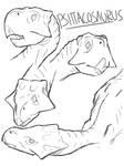 Psittacosaurus by CarbonComic