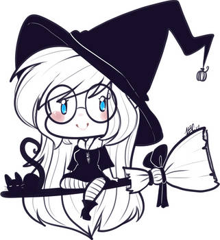 Quick Witchy Ally Doodle! by TehButterCookie