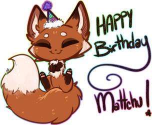 B-day Foxxu [gift] by TehButterCookie