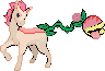Petal and Blade plant pony poke-sprite commish by Bluesky-of-Fire