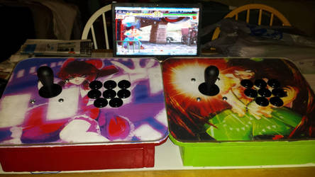 Touhou Arcade Sticks by Chichok