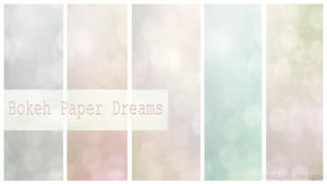 Free Texture Bokeh Paper Dream by Mephotos