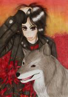 The Sharingan Wolf by Babydoll-chan