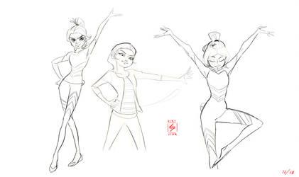 Chloe sketches by Xiriline