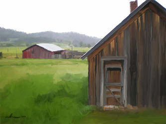 A Barn in the Mist by xxchef