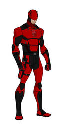 YJ style Daredevil redesign (Red) by shorterazer