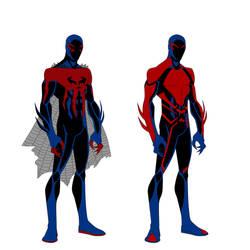 Spider-Man 2099 costume variant by shorterazer