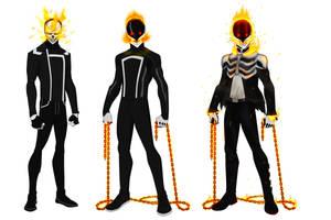 Ghost Rider (Robbie Reyes) variants by shorterazer