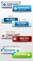 Modern Web Buttons by ArtoriusGothicus