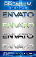 Premium 3D Text Styles by ArtoriusGothicus