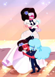 Garnet's wedding/ Ruby and Sapphire by Its-YamiSwan