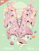 La Confiserie 2 - Cookie and Milk, self portrait by Ampraeh