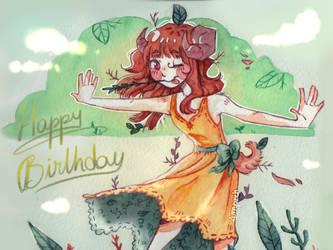 Happy Birthday little Sister ! by Ampraeh