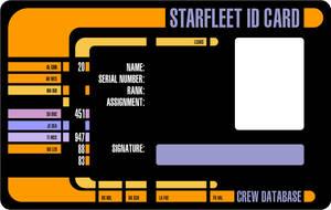 Starfleet ID Card by CmdrKerner