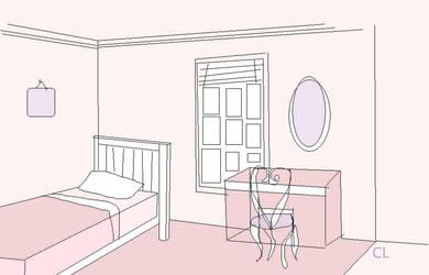 Pink Room sketch by Celtiga