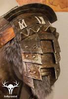 Skyrim Banded Iron Armor - pauldron left by Folkenstal
