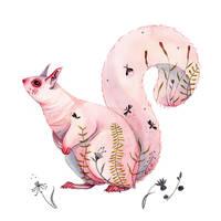 A strange squirrel by Lu-Art