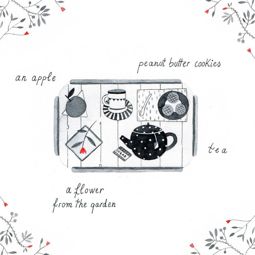 Lavinia's breakfast by Lu-Art