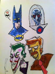 Batman studies by MazAdamsArt