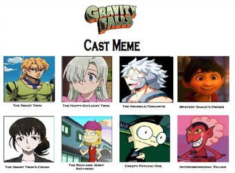 Gravity Falls cast meme by Anime--Bunny
