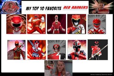 Top 10 Favorite Red Rangers by Anime--Bunny